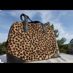Talbots Leopard Calf Hair Purse